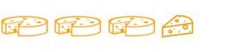 3.5 cheese wheels